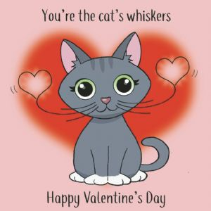 CS6  Funny Valentines Day Card From The Cat